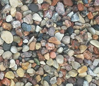 Safe & Non-Toxic {Various Sizes} 10 Pound Bag of Prewashed Gravel, Rocks & Pebbles Decor for Freshwater & Saltwater Aquarium w/ Earthy Toned Smooth River Inspired Polished Style [Tan, Red & Gray]