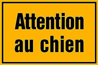 """plaque gravée PANNEAU PANCARTE /""""ATTENTION DANGER CHIEN MECHANT/"""" FT 150 X 200 MM"""