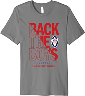 Back the Boys: 2019 USA Rugby Players Squad Premium T-Shirt