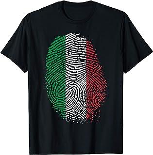 Fier Italie empreinte digitale DNA Italia drapeau T-Shirt