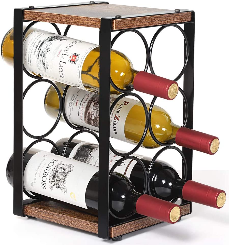 2021 model Wine Rack Countertop Holder Perfect 6 for Bottle 2021 autumn and winter new