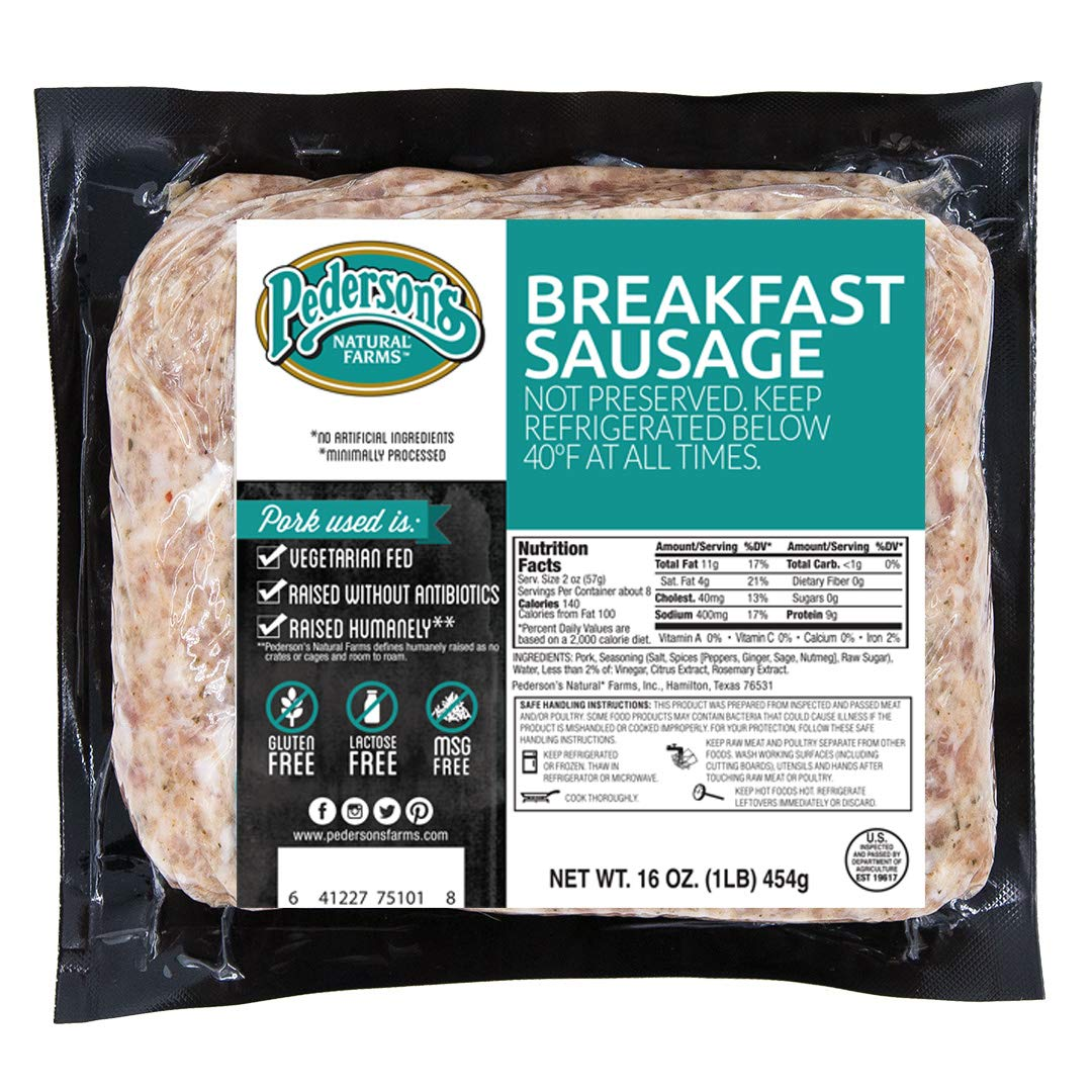 Pederson's Farms Breakfast Sausage Brick 10 Whole 30 Pack 16 Max 64% OFF 2021 spring and summer new