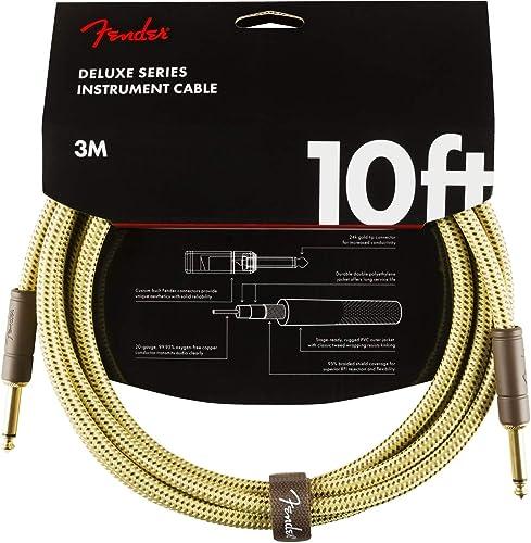 Fender Deluxe Series Câble Instrument - 3 m – Droit/Droit – Tweed