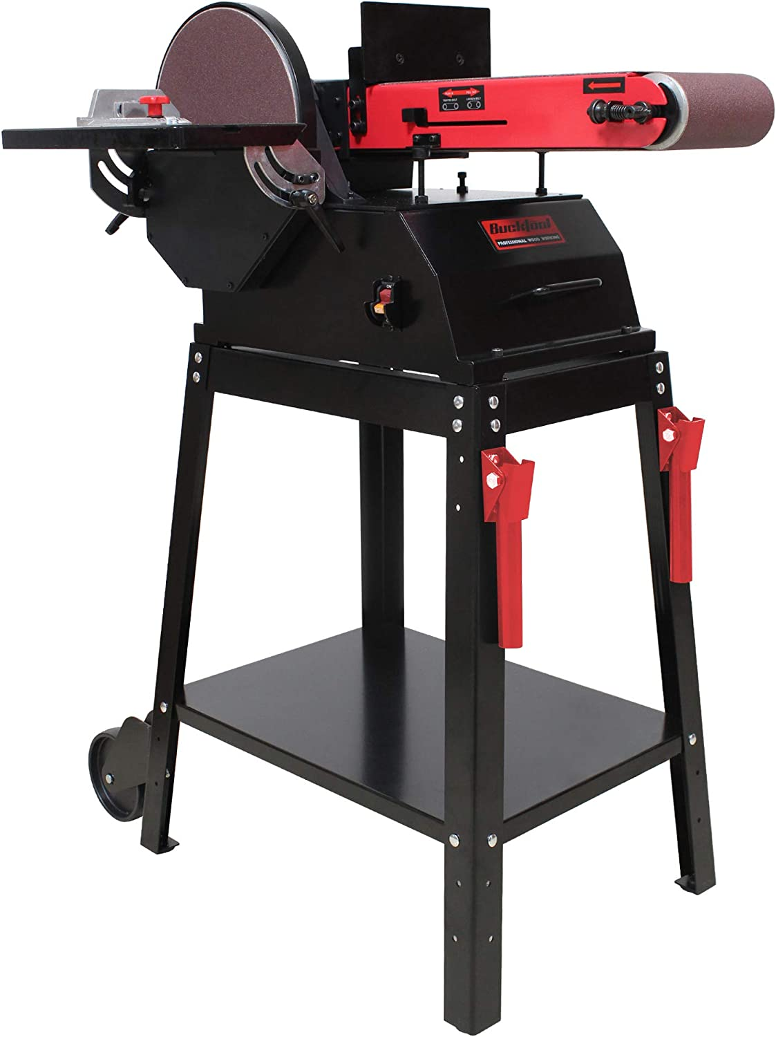 BUCKTOOL Powerful 1.5 HP Bench Belt 6 Wood Sander in Reservation for discount Working