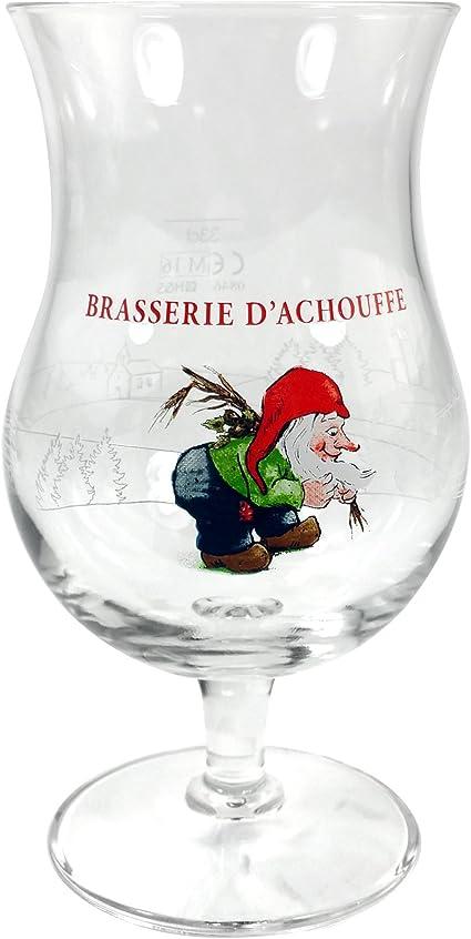 """La Chouffe  Beer Glass Belgium .25L  6/"""" Tall Tulip"""