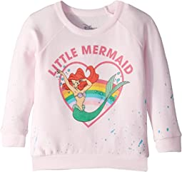 Little Mermaid Extra Soft Cozy Knit Long Sleeve Raglan Pullover (Toddler/Little Kids)