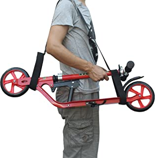 YYST Kick Scooter Shoulder Strap Kick Scooter Carrying Strap - No Further Damage to Your Back! No Scooter!