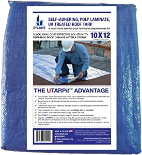 UTARPit BT1012 10 x 12 ft. Blue Roof Tarp