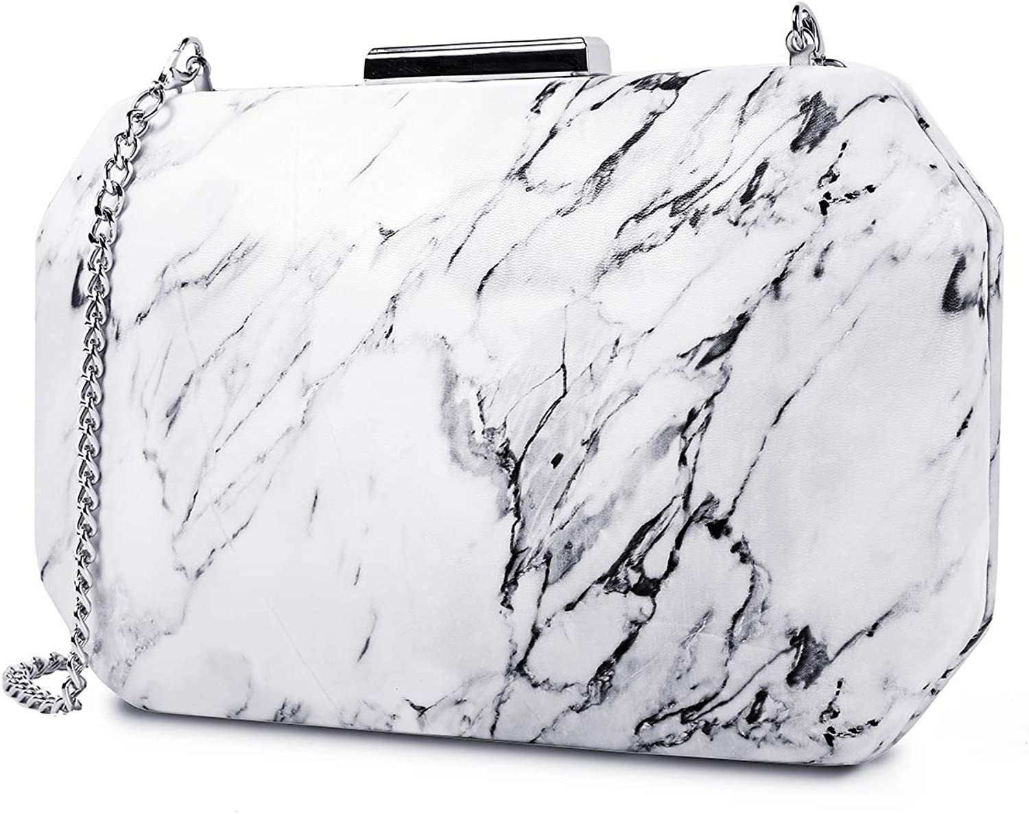 Two the nines Women's Floral Print Satin Evening Bag Thin Chain Hardcase Purses Clutch Purses for women