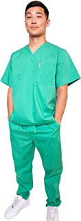 Workwear Classic Medical Uniform Women and Men V-Neck Scrubs Set - Available in Plus Sizes