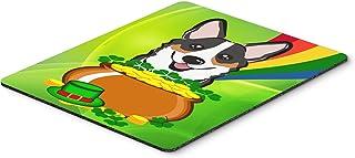 Caroline's Treasures Tricolor Corgi St. Patrick's Day Mouse Pad, Hot Pad or Trivet, Multicolor (BB1999MP)
