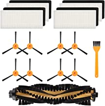 TOOGOO 8 Brushes + 4 Hepa Filters + 1 Main Brushes for Deebot N79 N79S Robotic Vacuum Cleaner,Side Brushes,Filter,Main Brushes Accessoies Replacment Parts Kit