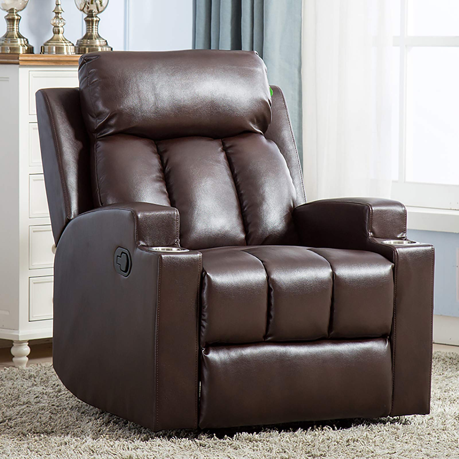 ANJ Recliner Contemporary Theater Chocolate