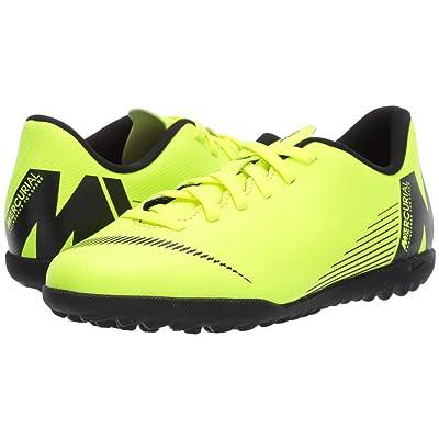 Nike Kids VaporX 12 Club TF Soccer (Toddler/Little Kid/Big Kid) (Volt/Black) Kids Shoes