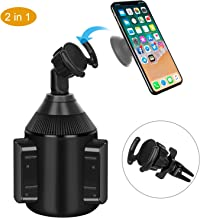 Pop Clip Cup Holder Phone Mount 2 in 1 Air Vent Pop Out Stand Car Mount  for Pop Users - 360° Rotation Compatible with iPhone Xs/Max/X/XR, Samsung S10/note 9 and Any Smartphones by DALUZ