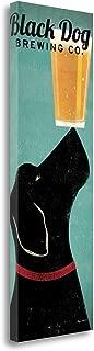Tangletown Fine Art Black Dog Brewing Co. Print on Gallery Wrap Canvas, 12 x 36, Multi