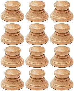 BestPysanky Set of 12 Blank Unfinished Wooden Egg Stands Holders Displays