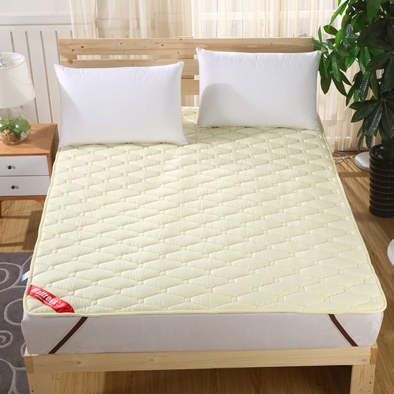 Bedroom Mattress Tatami mat Bed pad fold-Able Anti-Skidding 1.5Cm Thick [Individual] [Double] for livingroom Student Dormitory Tents-B 90x200cm(35x79inch)