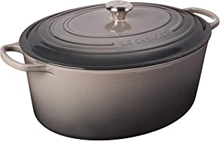 Le Creuset LS2502-407FSS Signature Enameled Cast-Iron Oval French (Dutch) Oven, 15-1/2-Quart, Oyster
