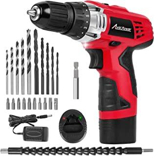 AVID POWER 12V Cordless Drill, Power Drill Set with 22pcs Impact Driver/Drill Bits, 2..
