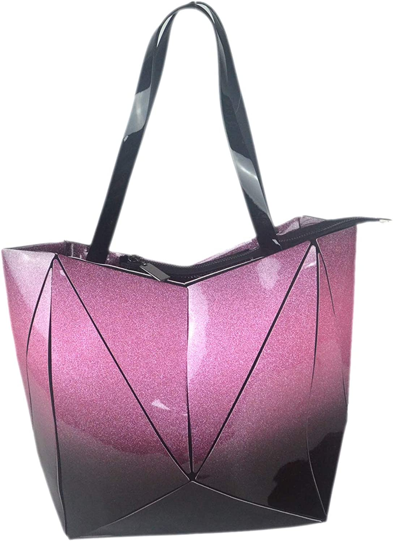 Aisunne Geometric Handbags Gradient Tote Bag Ecofriendly Leather Purses top shoulder Bags