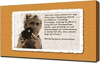 Michelangelo Antonioni Quotes 2 - Canvas Art Print