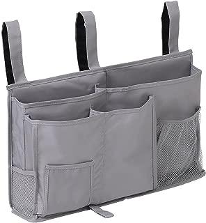 Bedside Organizer Caddy Hanging Storage Bag Holder 8 Pockets Bed Rails Dorm Rooms Bunk Beds Apartments Bathrooms Gray