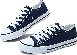 Women's Canvas Shoes Low Top Fashion Sneakers Slip on Walking Shoe