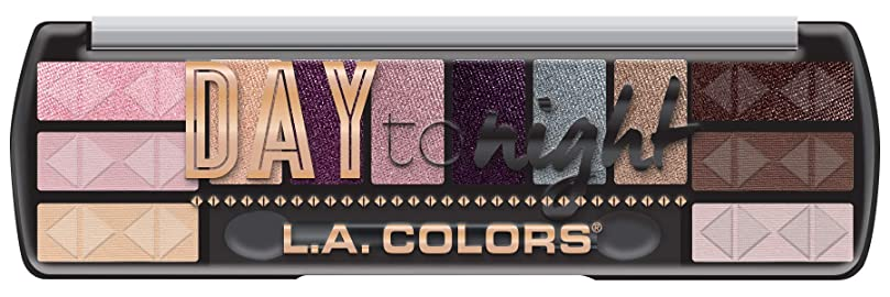 遊びます顧問防腐剤LA COLORS Day To Night 12 Color Eyeshadow - Dawn (並行輸入品)