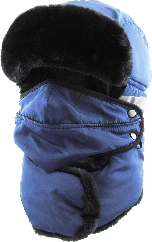 Hi Viz Trapper Warm Workwear Cold Windproof Winter Aviator Trooper Hunting Hat Ushanka Bike