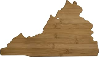 Totally Bamboo 20-7985VA Virginia State Shaped Bamboo Serving & Cutting Board, Brown
