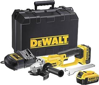 Dewalt DCG412M2-GB XR Lithium-Ion Cordless Angle Grinder with 2 x 4Ah Batteries, 18V, 46.2cm x 31.4cm x 18cm, Multicolor