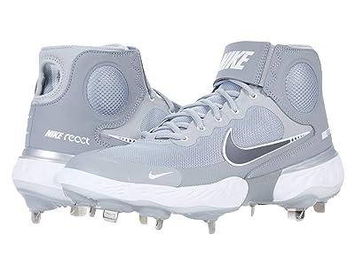Nike Alpha Huarache Elite 3 Mid (Light Smoke Grey/Particle Grey/White) Men