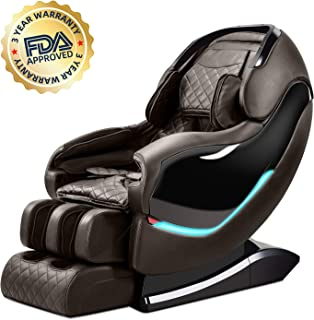 Ootori Zero-Gravity S-track Full-Body Japanese-Style Luxury Electric Massage Chair, Massage Chair Recliner, Foot Massage Therapy and Heated Back Stretching. (Light Brown)