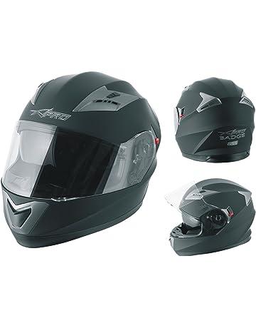QueenHome Casco Moto Integrale Casco Copertura personalit/à personalit/à Raffreddare Quattro Stagioni Doppia Lente Casco Moto da Corsa per Uomo e Donna
