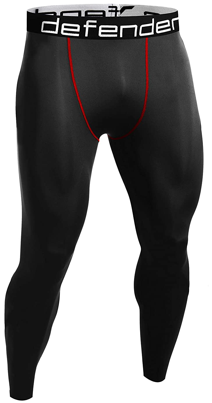 Defender Men's Compression Baselayer Pants Legging Shorts Shirts Tights Running