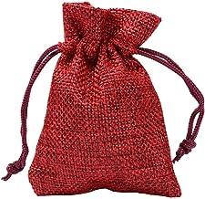 shuxuanltd jute zakken Hessische zakken kleine mousseline zakken Gift tas decoratie Hessische zakken Xmas boom decoratie X...