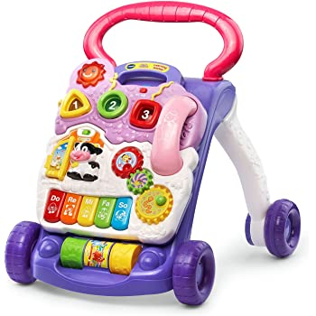 VTech Sit-to-Stand Learning Walker (Frustration Free Packaging), Lavender (Amazon Exclusive)