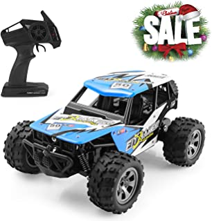 Remote Control Car, RC Cars for All Terrain Remote Control High-Speed Offroad 2.4Ghz 2WD Remote Control Monster Truck,  Ideal Toys for Kids and Adults