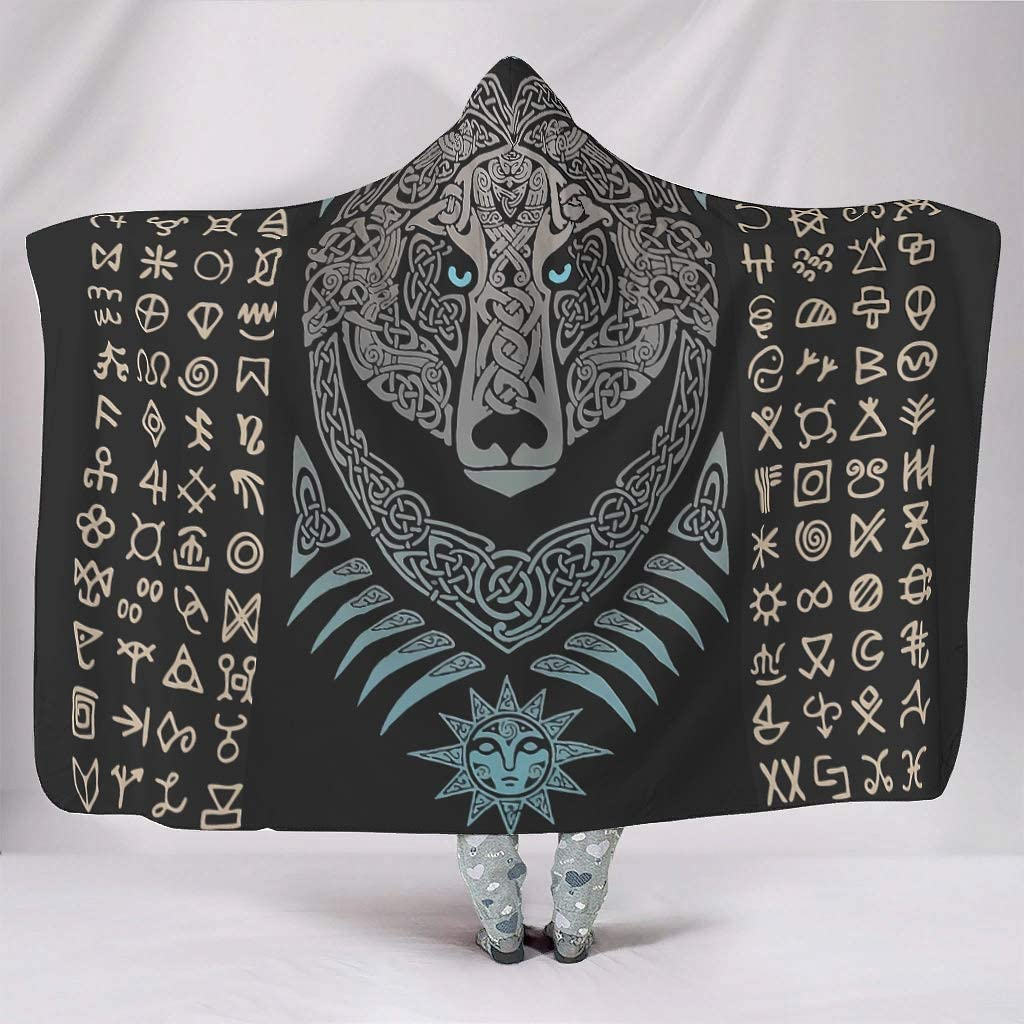Direct sale of manufacturer Loveyoudaily Hooded Blanket Viking Tulsa Mall Cape Bear Funny Throw
