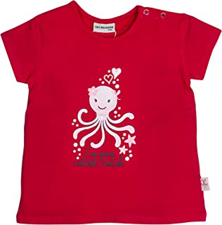 Salt & Pepper Baby Girls' Mit Süßem Krakenmotiv Glitzerdruck T-Shirt
