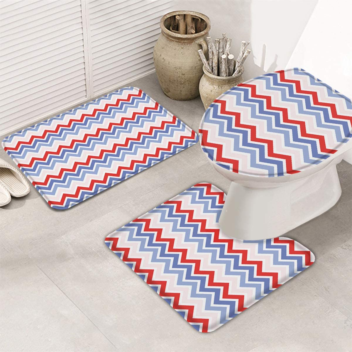 Fangship Limited time sale 3 Piece Bathroom Rugs Set Non Mats for Bath Cheap mail order shopping Sl