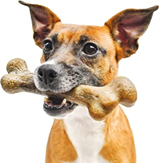 Pet Qwerks Big Foot BarkBone Peanut Butter Flavor - Nylon Chew Toy for Aggressive Chewers, Tough Extreme Power Chewer Bone...