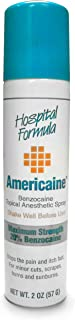 Americaine Hospital Formula Maximum Strength Benzocaine Topical Anesthetic Spray | for Minor Cuts, Scraps, Burns & Sunburn...