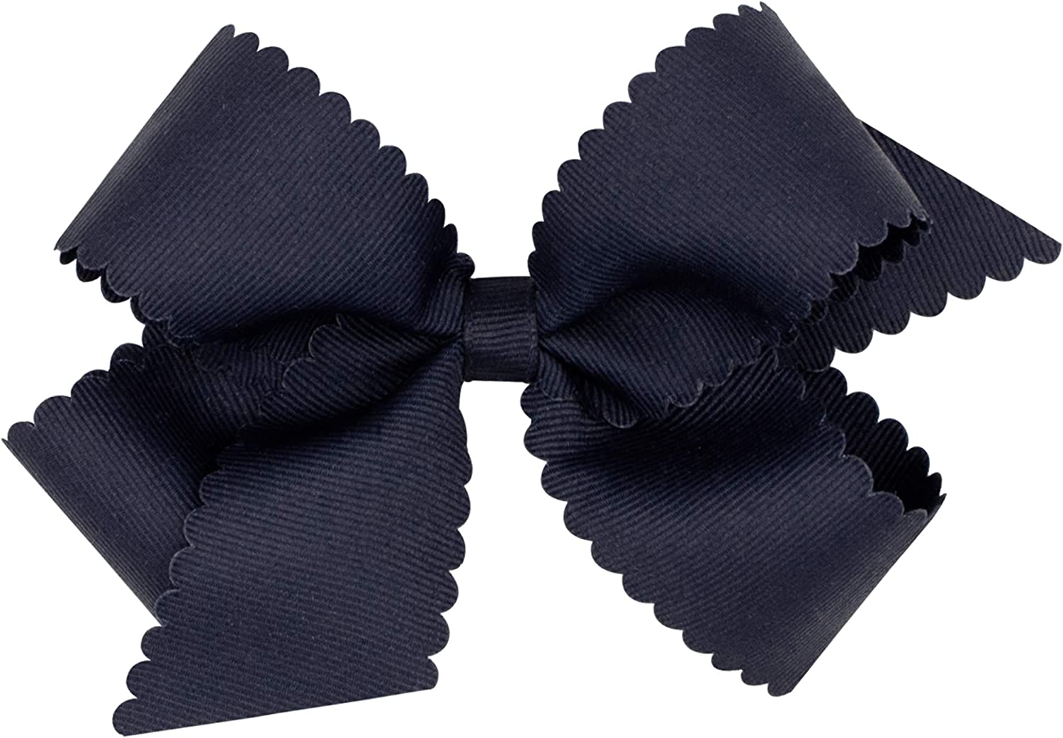 Wee Ones Girl's Grosgrain Bow with Scalloped Edge
