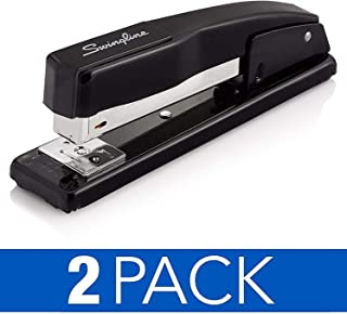 Swingline Stapler, Commercial Desktop Staplers, 20 Sheet Capacity, Black, 2 Pack (44401AZ)