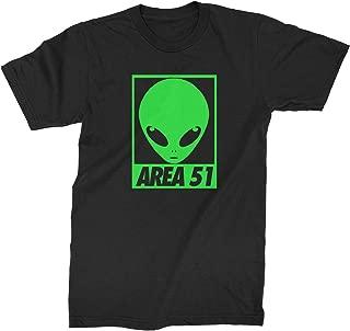 Alien Head Storm Area 51 Mens T-Shirt