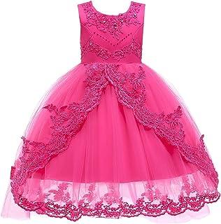 BCSHF Vestido de Princesa de Las niñas Vestido de Princesa Vestido de niña Falda Navidad Ropa para niños Vestido de niños ...