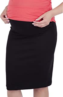 Mija - Maternity pregnnacy Jersey Skirt with Soft Panel 3045