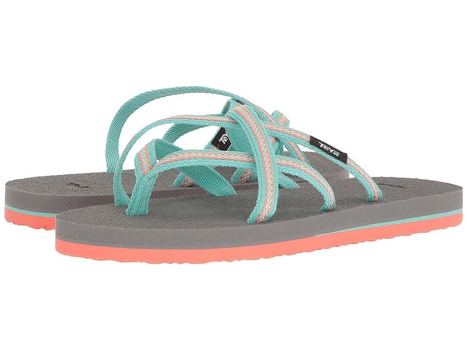 Teva Kids Olowahu (Big Kid) (Lindi Sea Glass/Coral) Girls Shoes